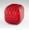 Small Rowan Red Glass Vase by Cyan Design