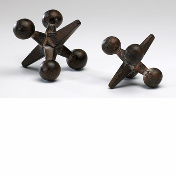 Small Rust Iron Jack Sculpture by Cyan Design (Large Jack Sculpture is Sold Separately)