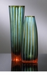 Small Stripe Chiseled Blue Glass Vase by Cyan Design (Each Vase is Sold Separately)
