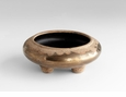 Small Taft Ceramic Bronze Planter by Cyan Design