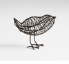 Small Wire Iron Bird Sculpture by Cyan Design