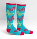 Sock It To Me Junior Knee High Socks Butterflies