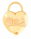 Spartina 449 Jewelry Bow Heart Padlock Charm