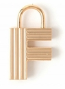 Spartina 449 Jewelry F Padlock Letter