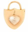 Spartina 449 Jewelry Heart Shield Padlock Charm