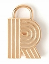 Spartina 449 Jewelry R Padlock Letter