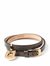 Spartina 449 Jewelry Slide Wrap Charm Bracelet Black Pearl Sheepskin (Charms Sold Separately)