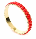 Spartina Jewelry Bangle Bracelet Stacked Gem Red
