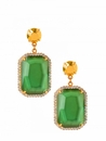 Spartina Jewelry Earrings Square Gem Turquoise