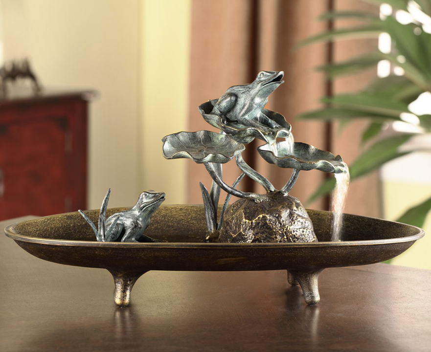 Frog Couple Table Fountain By SPI Home $172, You Save $63.00