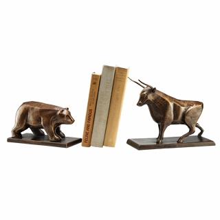 Cast Iron Bull And Bear Bookends By Spi Home 77 You Save