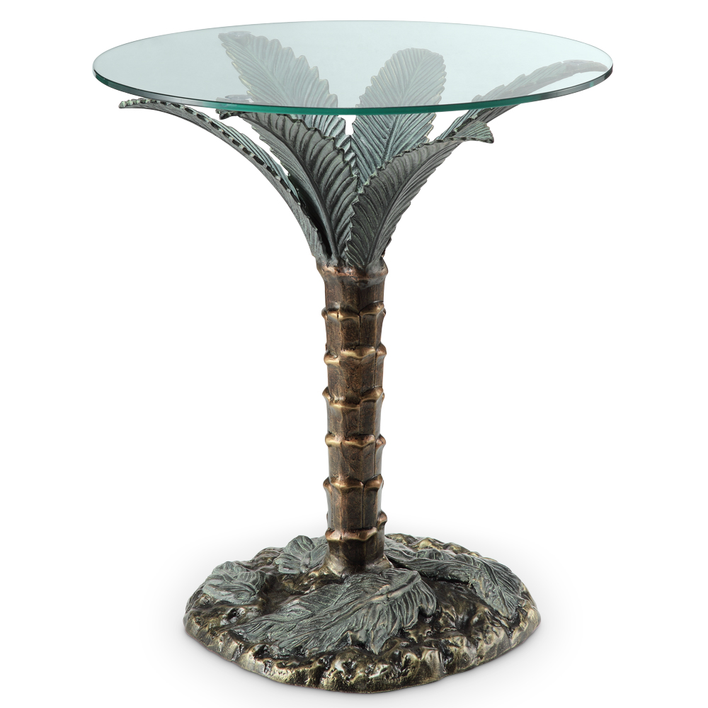 Palm Tree End Table Sculpture By SPI Home