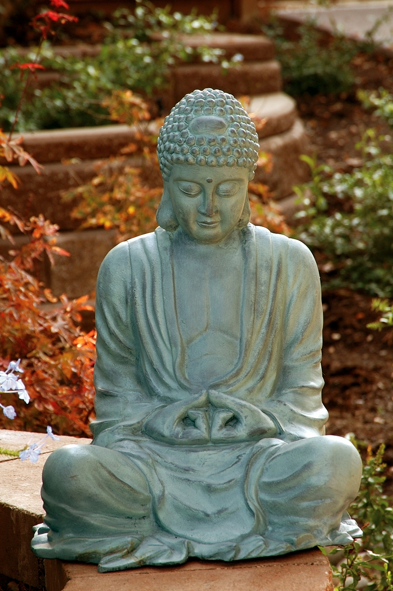 Large garden buddha by spi home 341 you save for Outdoor buddha