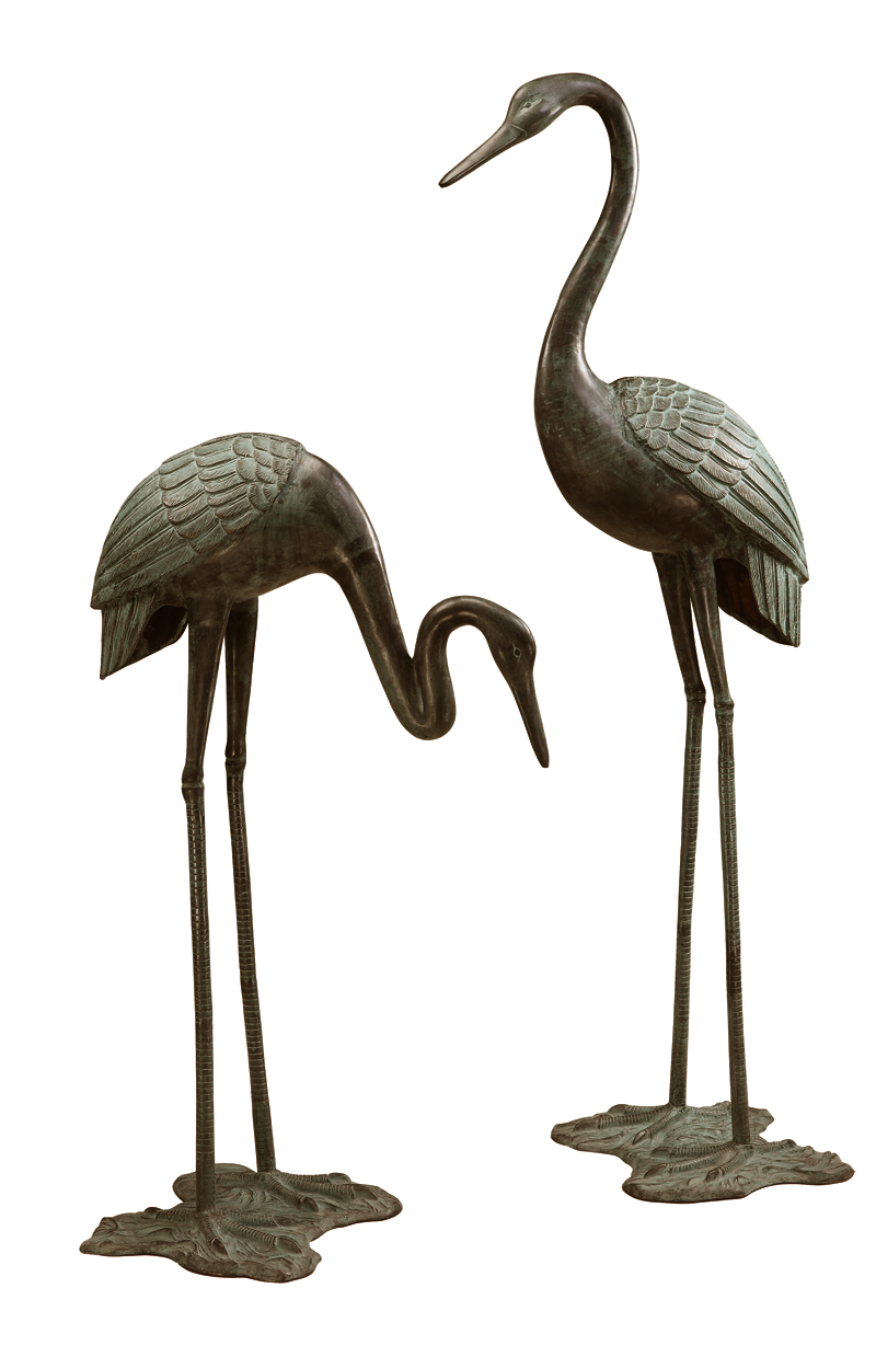 Large Garden Crane Pair Sculpture By Spi Home 3190 You Save 1