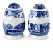 "Spode Blue Italian 3"" Salt & Pepper Shakers"