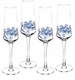 Spode Blue Italian Champagne Flutes Set of 4