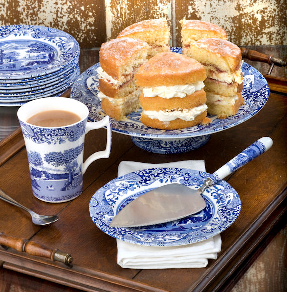 Spode Blue Italian Footed Cake Plate & Spode Blue Italian Footed Cake Plate $39 You Save $21.00
