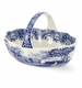 Spode Blue Italian Handled Basket