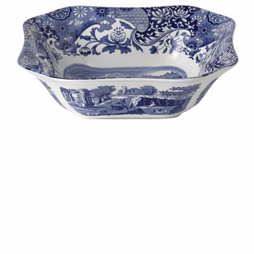 Spode Blue Italian Square Salad Serving Bowl