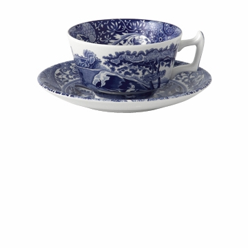 Spode Blue Italian Tea Cup Saucer Set