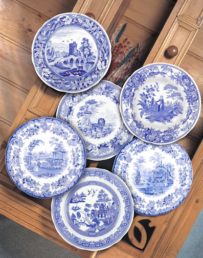 Spode Blue Room 10.5u0027u0027 Traditions Scenes Plates Set of 6 & Spode Blue Room 10.5