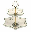 Spode Christmas Tree 2 Tier Star Server