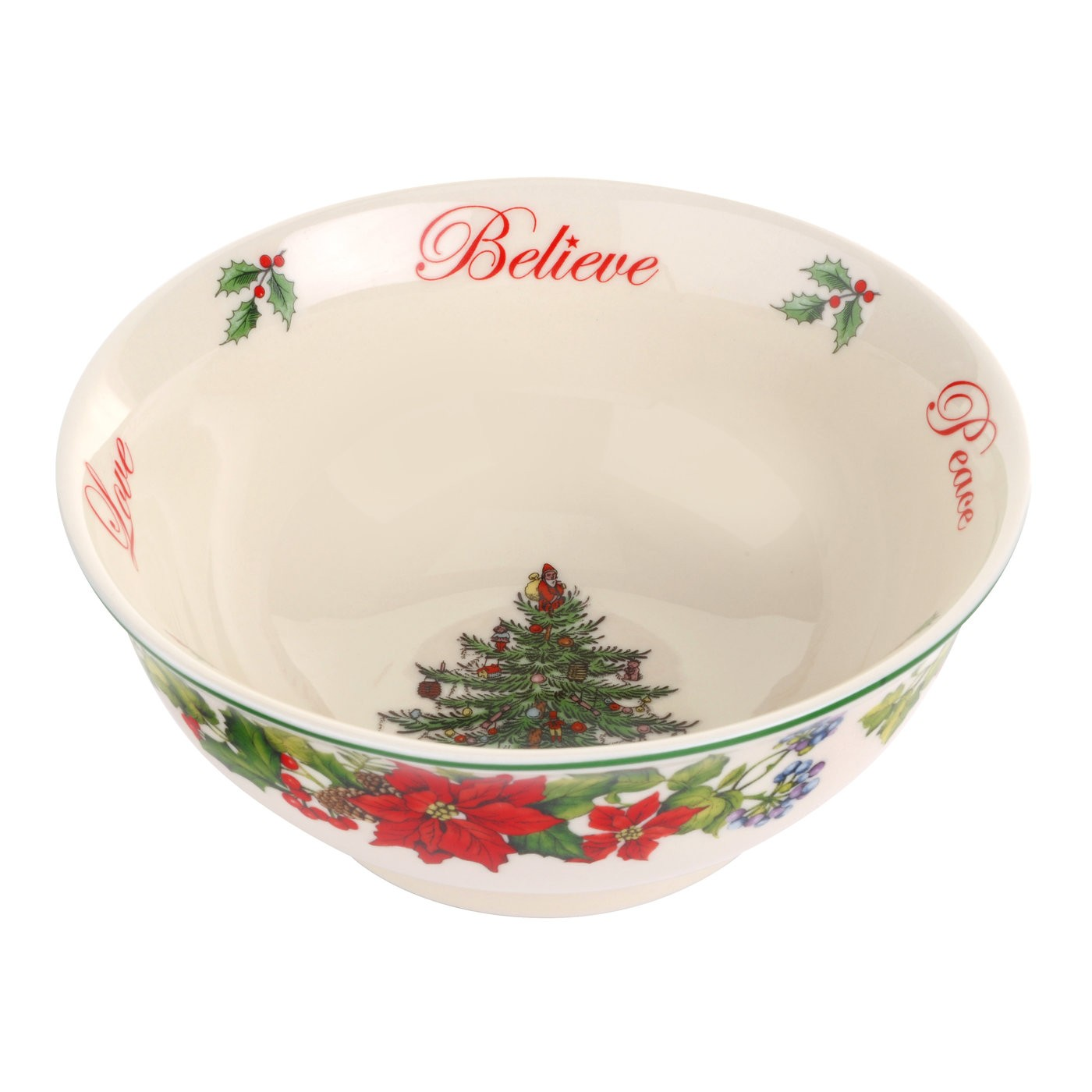 spode christmas tree 2016 revere candy bowl believe joy peace love - Christmas Candy Dishes