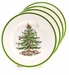 "Spode Christmas Tree 8"" Salad Plates Set of 4"
