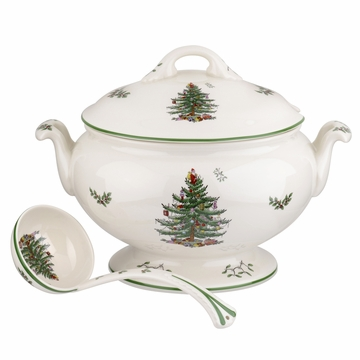 Spode Christmas Tree Anniversary Footed Tureen & Ladle