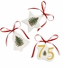 Spode Christmas Tree Anniversary Tree Ornaments Set (3) (Star, Bell, & 75th)