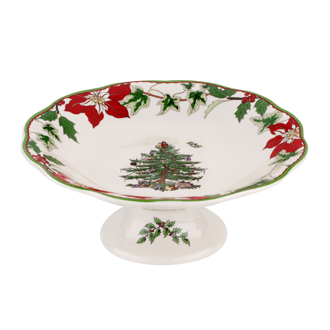 Spode christmas tree annual footed candy dish you
