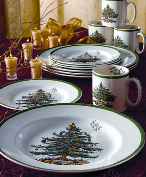 Click to enlarge : inexpensive christmas dinnerware - pezcame.com