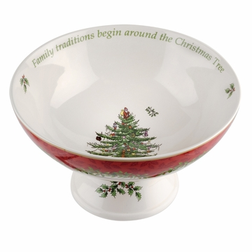 Spode Christmas Tree Footed Comport