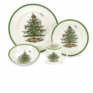 Spode Christmas Tree Four Piece Place Setting