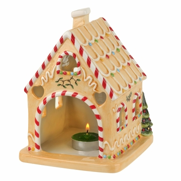 Spode Christmas Tree Gingerbread House with Tealight