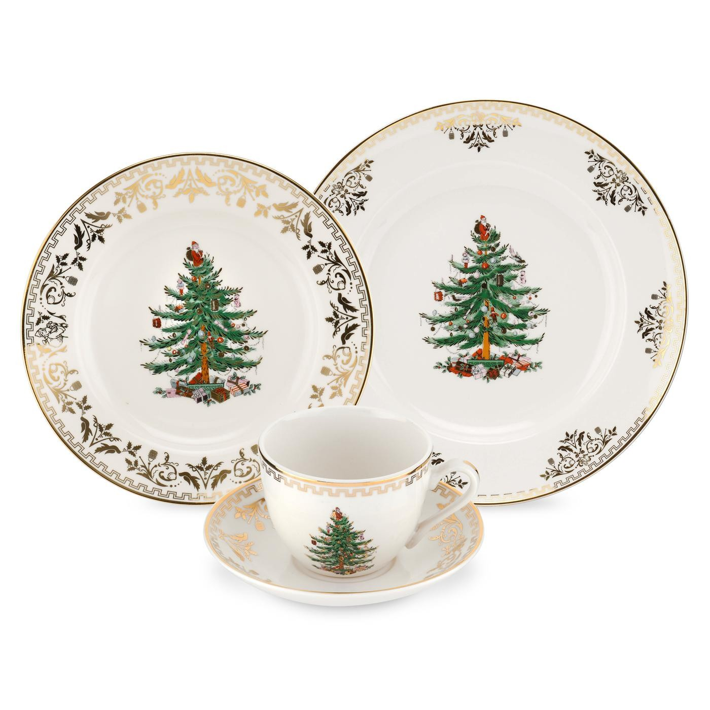 Spode Christmas Tree Gold 4 Piece Place Setting  sc 1 st  Distinctive Decor & Spode Christmas Tree Gold 4 Piece Place Setting $79.95 You Save $80.05