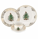 Spode Christmas Tree Gold 4 Piece Place Setting