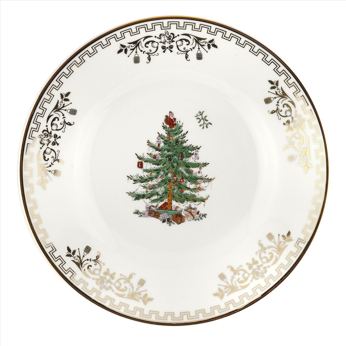 Spode Christmas Tree Gold Bread Butter Plate 15 You Save