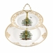 Spode Christmas Tree Gold Cake Stand, 2-Tier