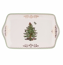 Spode Christmas Tree Gold Dessert Tray