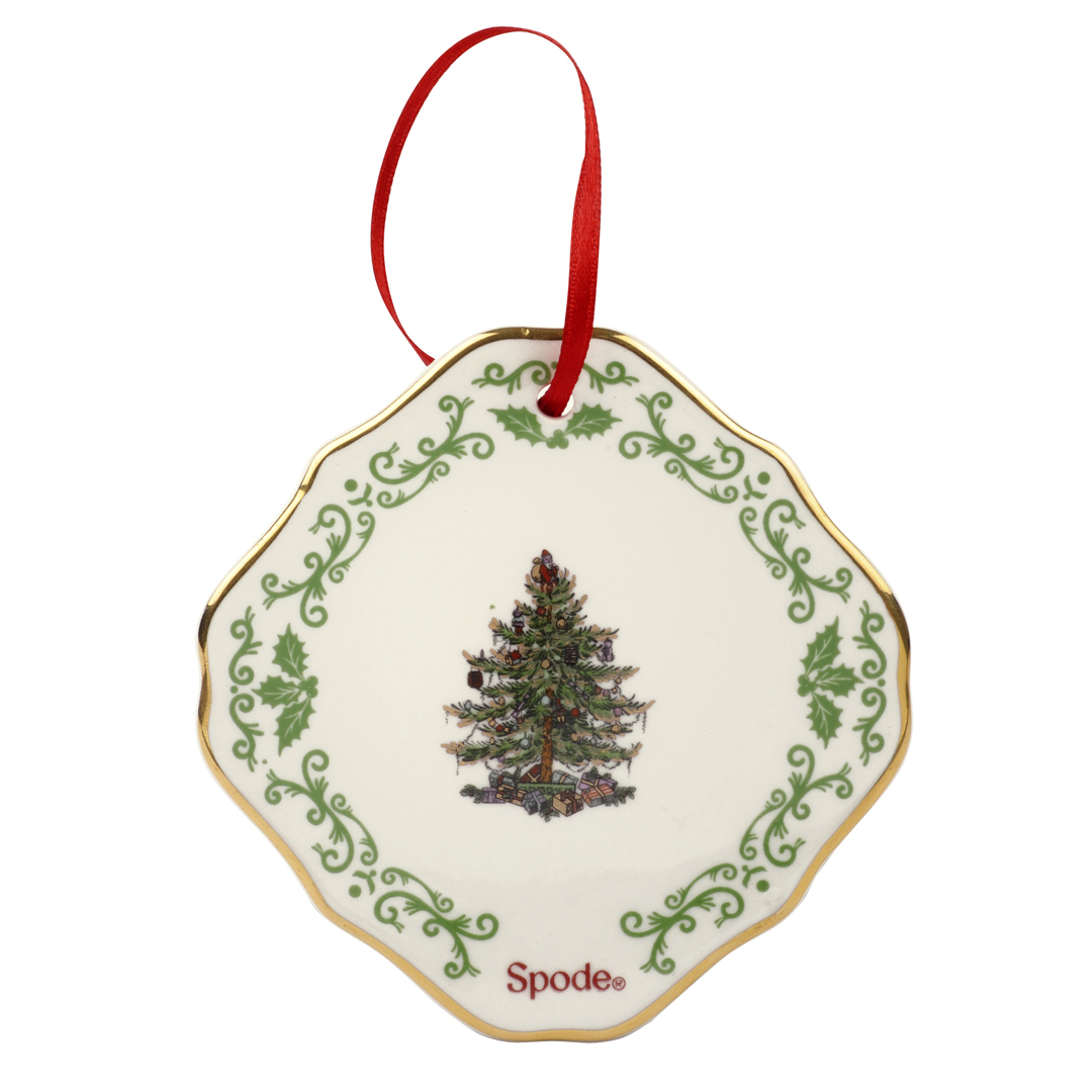 Spode christmas tree gold embossed ornament you