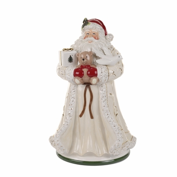Spode Christmas Tree Gold Figural Santa Cookie Jar
