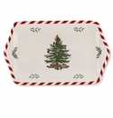 Spode Christmas Tree Peppermint Dessert Tray