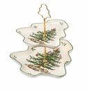 Spode Christmas Tree Sculpted 2-Tier Server