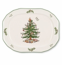 Spode Christmas Tree Sculpted Oval Platter