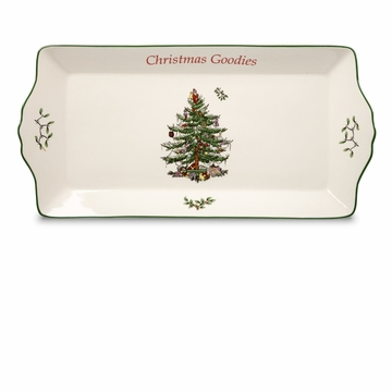 Spode Christmas Tree Sentiment Cookie Tray