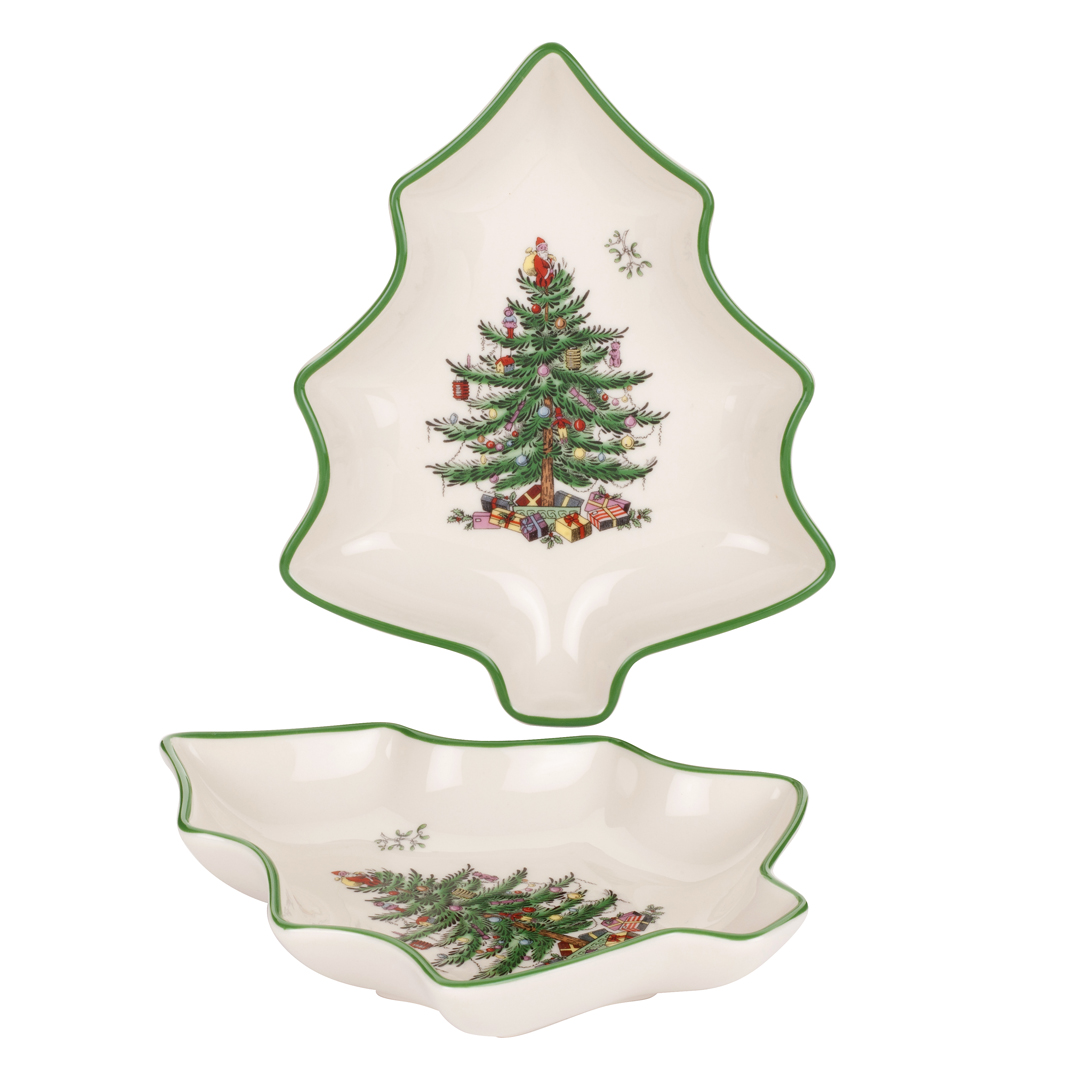 Spode Christmas Tree Set of 2 Tree-shaped Dishes $25, You ...
