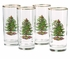 Spode Christmas Tree Set of Four Highball Glasses