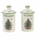 Spode Christmas Tree Spice Jars Set of 2