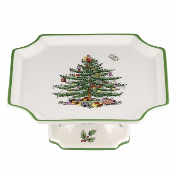 Spode Christmas Tree Square Cake Plate